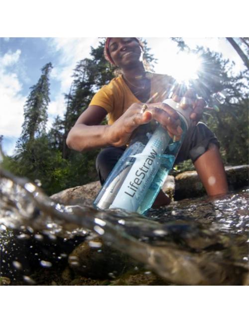 LifeStraw waterfilterfles Gehen, 1 Liter, Dark Teal, Grün und