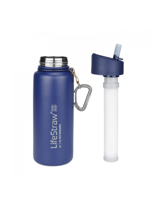 LifeStraw waterfilterfles, Edelstahl, isolierte EDELSTAHL, 710 ml, Blau