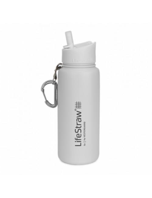 LifeStraw waterfilterfles, Edelstahl, isoliert, EDELSTAHL 710 ml) Weiß