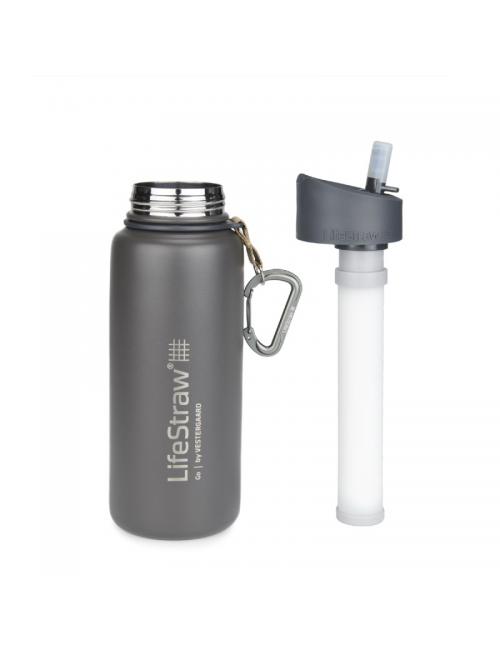 LifeStraw waterfilterfles, Edelstahl, isoliert, EDELSTAHL 710 ml)- Grau