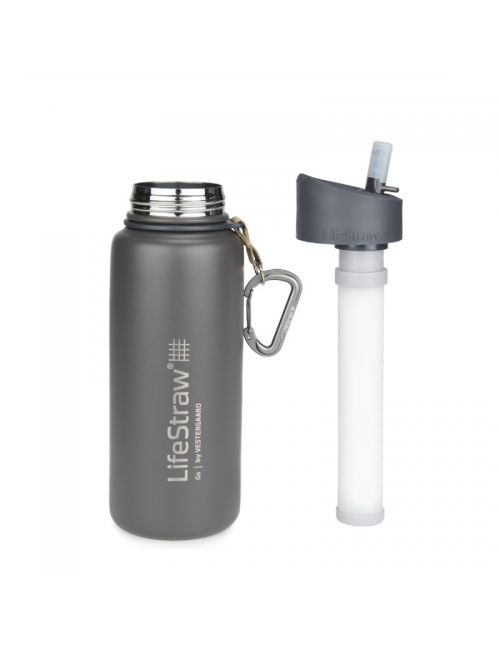 LifeStraw waterfilterfles, Stainless Steel, insulated, STAINLESS steel 710 ml)- Grey