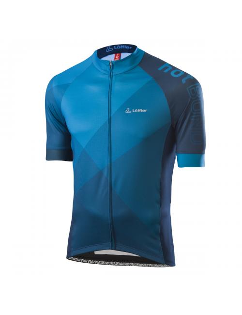 Loeffler wielrenshirt short-sleeve-M Bike Jersey FZ Hotbond - Blau