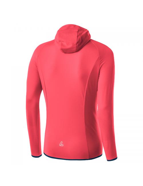Loeffler shirt lange mouwen dames W Hoody FZ TechFleece Sunrize - Roze