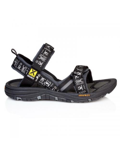 Source sandals for men Gobi Black Inca-outdoor - Black
