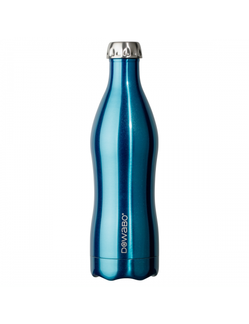 Dowabo thermos bottle double wall Metallic Collection-750 ml-Blue
