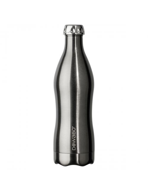 Dowabo thermos bottle double wall Metallic Collection-750 ml-Silver