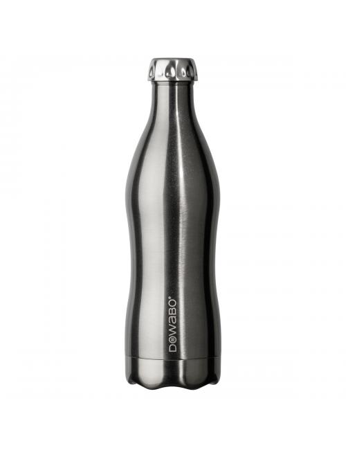 Dowabo thermosfles dubbelwandig Metallic Collection - 750 ml - Zilver
