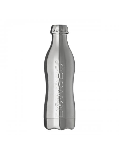 Dowabo drinking bottle stainless steel single wall Pure Steel-1200 ml-Silver