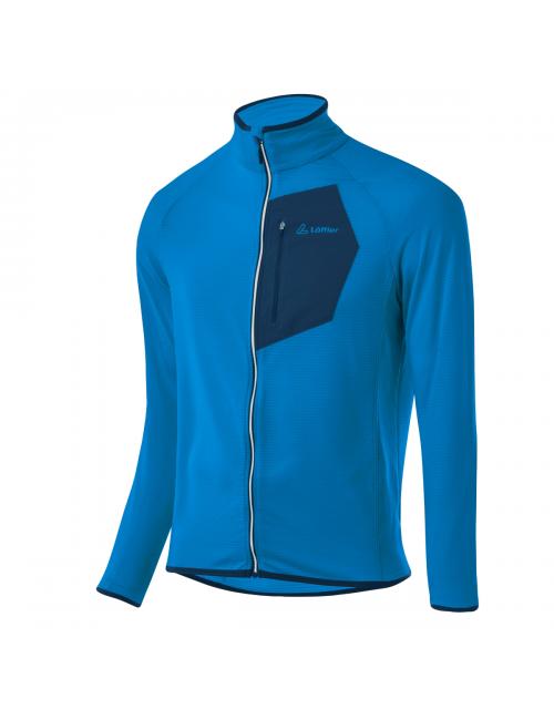 Loeffler shirt long sleeves men m Mid Jacket Tech Fleece Blue Lake - Blue