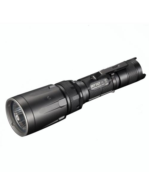 NiteCore flashlight SRT7GT with UV and 3 colors-1000 lumen - Black