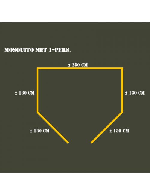 Fosco Industries muskietennet Mosquito net 1 persoons - Wit