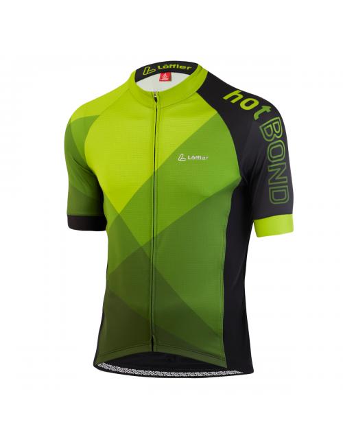 Loeffler ciclismo camicia maniche corte M Bici Jersey FZ Hotbond-Verde