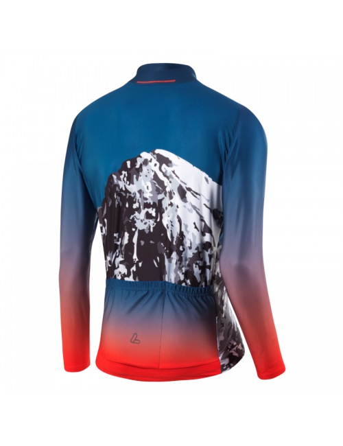 Loeffler camisa de ciclismo manga larga M Bike L / s Jersey Scarp-Azul