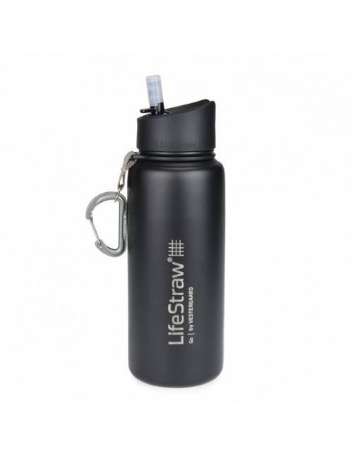 LifeStraw waterfilterfles Stainless Steel geïsoleerd RVS 710 ml -Zwart