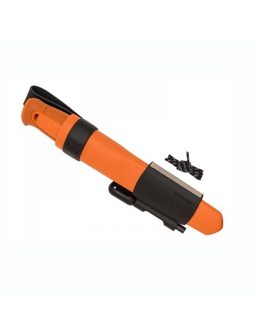 Kit de couteau de survie Mora Kansbol Orange brûlé avec gaine en polymère-Orange