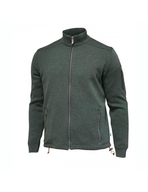Ivanhoe vest Assar FZ Windbreaker Riffle Green - fine merino wool-Green