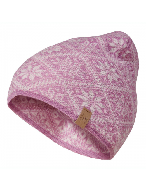 Gorro de punto Ivanhoe en lana Freya Sweet Lila - talla única-rosa
