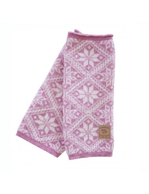 Ivanhoe calentador de mano de punto en lana Freya Sweet Lila 21 - talla única-rosa