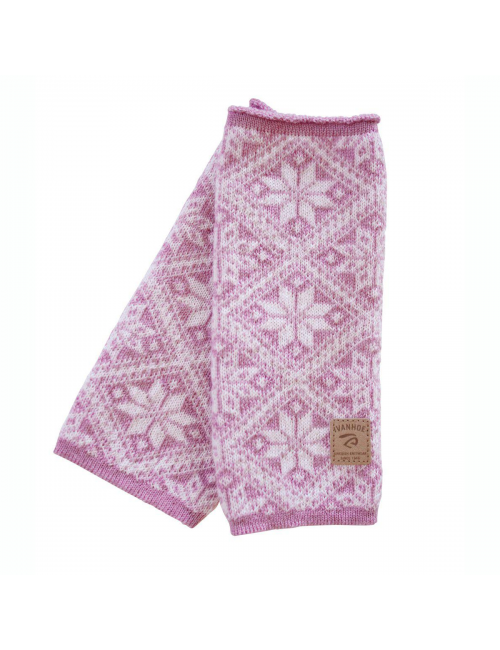 Ivanhoe gebreide handwarmer van wol Freya Sweet Lilac 21 - One Size - Roze