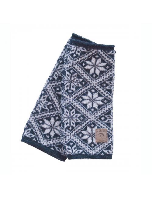Ivanhoe gestrickter Handwärmer aus Wolle Freya Light Navy 21-one Size-Blau