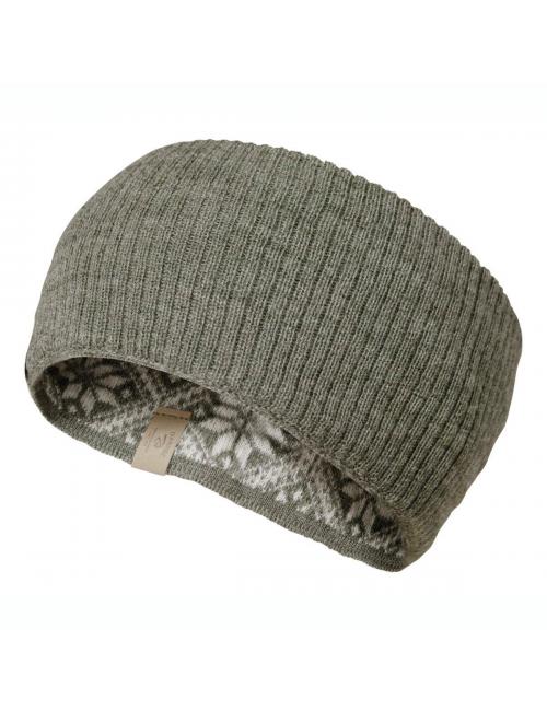 Ivanhoe knitted headband wool Freya Lichen Green - one Size - green