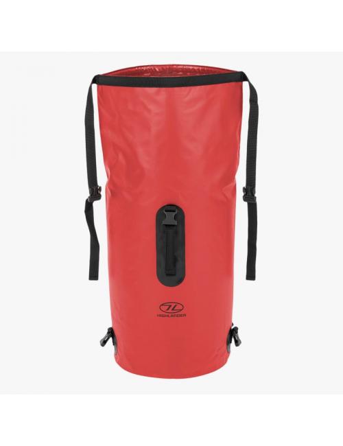 Highlander mochila impermeable Drybag throne 45 litros bolsa de lona-Rojo