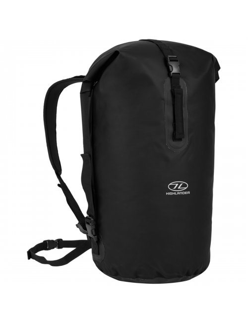 Highlander mochila impermeable Drybag trono 70 litros bolsa de lona-negro