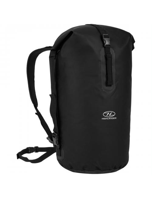 Highlander waterproof backpack Drybag throne 70 liter duffle bag - black