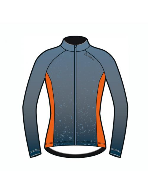 Loeffler wielrenshirt lange mouwen W Bike L/S Jersey Dirt dames - Blauw