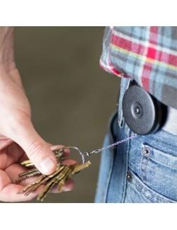 """Key-Bak The Original Heavy Duty STAINLESS steel Retractable Key Reel 48"""" - 15 keys"""
