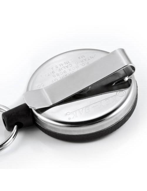 """Key-Bak El Original de Pesado de acero INOXIDABLE Retráctil Clave Carrete de 48"""" - 15 teclas"""